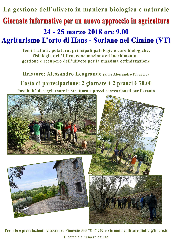 due giornate informative a Soriano nel Cimino (VT)